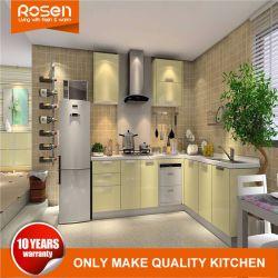 Modular de PVC de alto brilho abrir armários de cozinha despensa escura