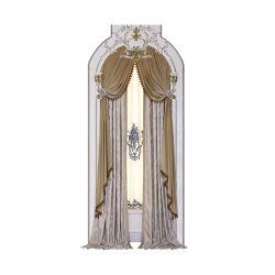 Salón estilo americano de CORTINA cortina patrón establece