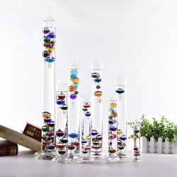 Couleur populaire thermomètre de verre Customzied Galileo pour la décoration