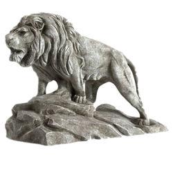 Decorazione animale del giardino della statua del leone della scultura di pietra