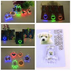 Мигающий световой индикатор LED ПЭТ Tag собака втулку пульта управления