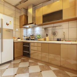 Laca brillante de alta cocina modular moderno hecho personalizado gabinete (ZH-K20)