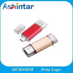 Förderung-Geschenk-Metall-USB3.0 Mini-USB-Blitz-Laufwerk rostfreier Typ-c USB-Stock
