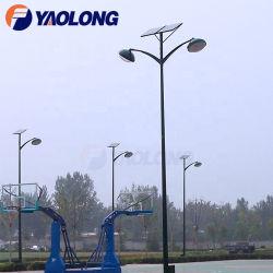 Haltbarer materieller Edelstahl-Basketballplatz-Doppelt-Arm-Sonnenkollektor-heller Pole-Wind-Widerstand-Straßenlaterne-Pfosten für Verkauf