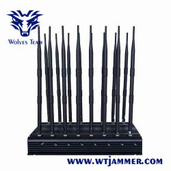 18 Band Cell Phone Wifi Signaal Jammer Gps Car Remote Control Omni-Directionele Antenne