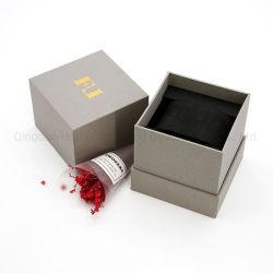 Contenitore impaccante di marchio del pacchetto piano del cartone del documento della parrucca dei vestiti del cioccolato del vino della candela del profumo dei monili di regalo pieghevole magnetico su ordinazione di lusso della vigilanza con la chiusura del magnete