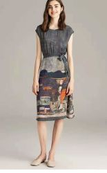 signore vestito, pannello esterno della stampa personalizzate Digitahi di CDC 100%Silk delle donne
