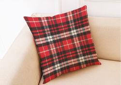 Schottisches Art-Plaid-Leinen20 '' Throw-Kissen-Kasten geeignet für Bett-/Sofa-Kissen-Deckel