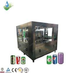 3 في 1 كاملة التلقائي زجاجة من الألومنيوم ليف ألومنيوم المشروبات الغازية المياه الغازية المشروبات الغازية خط الإنتاج المشروبات الغازية CSD تعبئة ماكينة تعبئة تعبئة الخنق