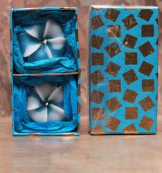 Commerce de gros paquet de luxe couleur romantique la cire de paraffine sculpté de mariage bougies