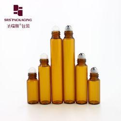 びんの標準的なこはく色のガラス容器2ml 5ml 8ml 10mlの小さい香水ロール