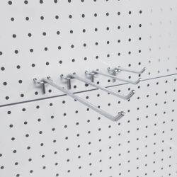 Eurometallchrom-Stöpsel-Vorstand-Bildschirmanzeige Slatwall Pegboard Haken für Systeme