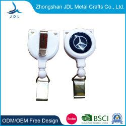 Logotipo personalizado tirar de tarjeta de identificación retráctil Corrección automática de Metal Plástico ABS Caribiner Badge molinete con el clip de cinturón Obsequios (44)