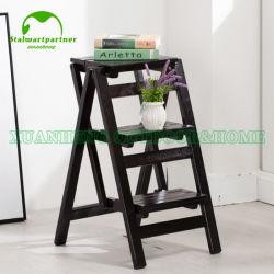 多機能の折りたたみの屋内木の世帯は椅子梯子の上昇する