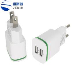 2 порта USB штекер зарядного устройства Energy Smart поездки адаптер универсальный адаптер для поездок