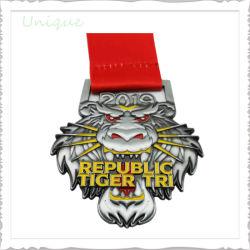 La fábrica de moda personalizada 3D de EE.UU. de Tigre Tigre Latón Antiguo de la medalla de metal para la Escuela Deportiva de la empresa Regalos premio