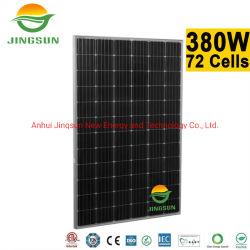 太陽エネルギーシステムのための熱い販売の太陽エネルギー380Wのモノクリスタル太陽電池パネル
