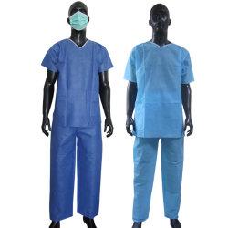 SMS SGM-SAR bleu Combinaisons Costumes Scrub médicaux chirurgicaux pour les hommes