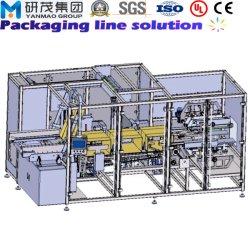 Macchina per l'imballaggio delle merci dell'imballaggio del contenitore di scatola di caso con la costruzione ed il sigillamento