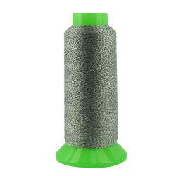 Verdovende middel van de manier verfte de Weerspiegelende Draad van het Garen van de Polyester Lichtgevende Naaiende