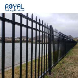 L'aluminium enduit de poudre noire de la sécurité certificat CE piquet de clôture de jardin