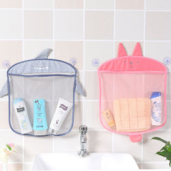 La pared cuelgan Cocina Baño Bolsas de almacenamiento Net bolsa de malla de baño del bebé Champú Juguetes