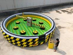 Piscine extérieure pour adultes Carnival Meltdown Jeux Wipeout éliminateur gonflable
