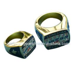 Anello per dita In Smalto smaltato in lega di zinco personalizzato con Diomonds (ele-ring01)