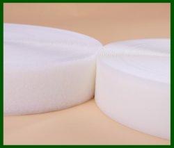 100% من النايلون الملون المخصص المعاد تدويره من خلال شريط سحري Velces أصفر 25 مم حلقة الخطاف