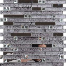 Resistente al calor moderno decorado interior baldosas mosaico de vidrio de la pared de cocina