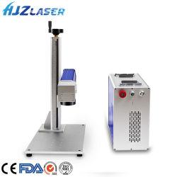 Metallo acquaforte della macchina per incidere di taglio della marcatura del laser della fibra del laser 20W 30W 50W di Hjz con rotativo per la vendita