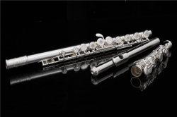 Stevige Zilveren Headjoint Fluit, Professionele Fluit, In het groot Muzikaal Instrument