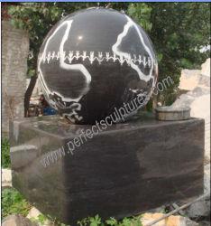 Fontana di acqua di marmo di pietra della sfera di galleggiamento del granito del giardino per Fengshui (SF-B099)