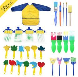 Schwamm-Farbanstrich-Hilfsmittel-Set der Kinder von 30 Stücken DIY Farbanstrich EVA-Schwamm-Pinsel-Hilfsmittel-