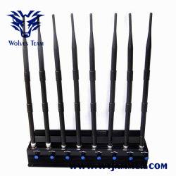 8 Stoorzender van het Signaal van banden de Regelbare Krachtige 3G 4G UHFVHF WiFi Cellphone