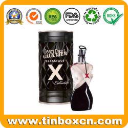 En relief l'étain cosmétiques Boîte en métal personnalisé pour le parfum des huiles de parfum