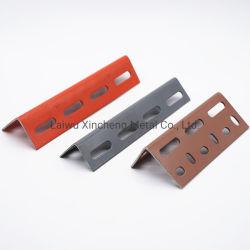 Перфорированные отверстия с равной и неравной оцинкованный порошковое покрытие угол с прорезями стальные балки