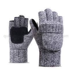 OEM половины пальцев отремонтировать Multi-Color шерстяной трикотажные полированный верхом на лошадях Мужчины Женщины перчатки