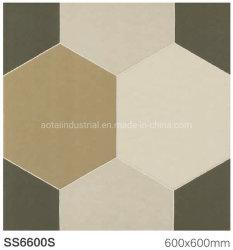 Rabatt-Hexagon-Carrara-Blick-rustikale Fliese für Esszimmer-Raum-Bodenbelag