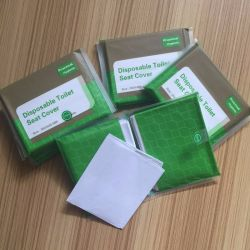 Arbeitsweg-Satz-Toiletten-Sitzdeckel-Papier Flushable Wegwerftoiletten-Sitzdeckel