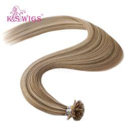 La cheratina U-Capovolge i capelli umani indiani di Remy di estensione dei capelli