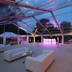 싼 명확한 경간 구조 알루미늄 프레임 결혼식 옥외 사건 유리에 의하여 격리되는 백색 호화스러운 천막