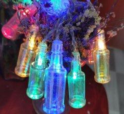 سبعة لون [بير بوتّل] شكل عيد ميلاد المسيح قضيب عطلة زخرفة [لد] خيط ضوء