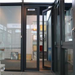 Aluminium Französisch Scharnier Swing Casement Türen Doppelt Verglaste Glas Gehärtet Markise und Schiebe Aluminium Rahmen Fenster