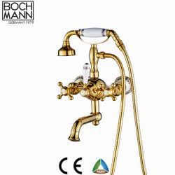 Design de luxe Double poignée en laiton avec pomme de douche robinet du bain