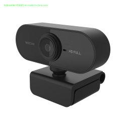 1080P USB Webcam con micrófono para grabar vídeo Conferencing reunión