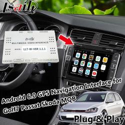 Plug&Play Android GPS Navigator pour Volkswagen Golf 7, Skoda, Passat avec Mirrorlink, Igo Map, Yandex, youtube