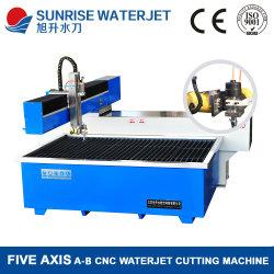 Cinq axes machine de découpe jet d'eau de pierre pour parquet