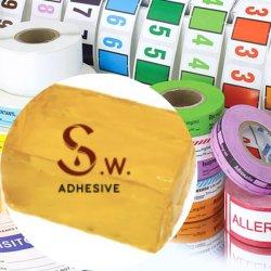Premium de adhesivo termofusible/adhesivo sensible a presión (PSA) para el etiquetado de cinta adhesivo// Etiquetas