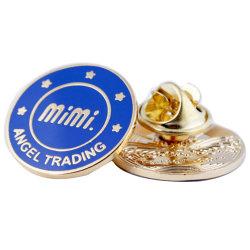 Пользовательский логотип непосредственно на заводе латунной металлической эмали контакт